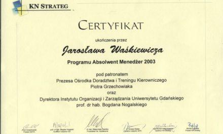 Absolwent Menedżer 2002/2003