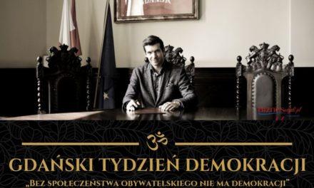 """Zapraszam na 3. Gdański Tydzień Demokracji – """"Bez społeczeństwa obywatelskiego nie ma demokracji"""" 14-22 września"""