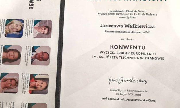 Jarosław Waśkiewicz członkiem Rady Konwentu Wyższej Szkoły Europejskiej im. ks. J. Tischnera