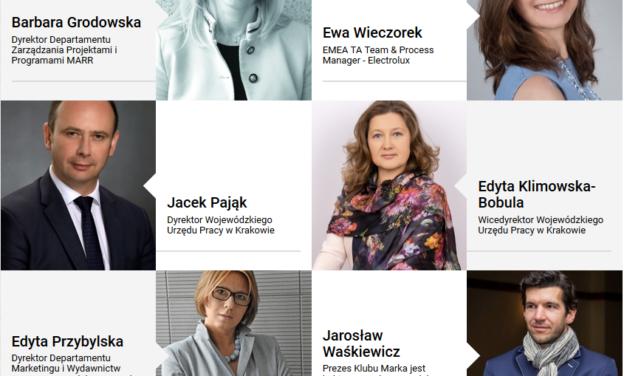 Jarosław Waśkiewicz i członkowie Konwentu Wyższej Szkoły Europejskiej w Krakowie