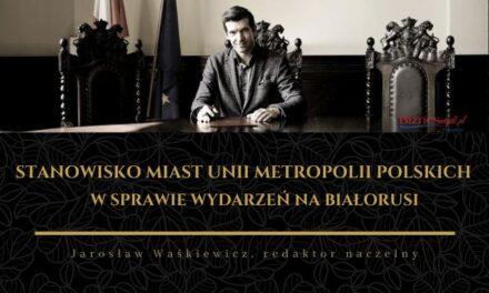 Stanowisko Prezydentów Miast Unii Metropolii Polskich w sprawie wydarzeń na Białorusi