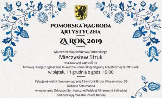 Zaproszenie: Pomorska Nagroda Artystyczna za rok 2019