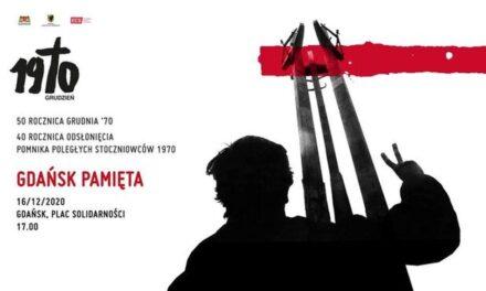 Akredytacja na wydarzenie Gdańsk pamięta, 16 grudnia