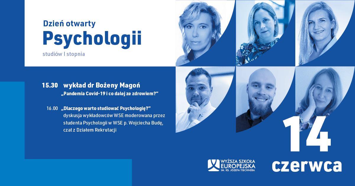 Dzień Otwarty Psychologii w WSE 14.06.2021